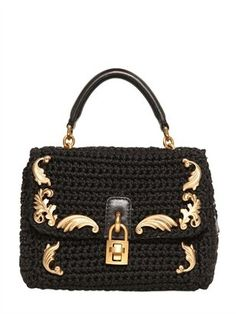 Dolce & Gabbana - Mini Dolce Crochet Cotton Shoulder Bag