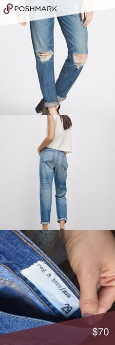 Rag & Bone Boyfriend Jean Very cute, loose fitting jeans. Great condition, only worn a couple times. rag & bone Jeans Boyfriend