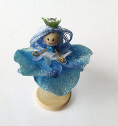 NEW  Miniature Blue Flower Fairy by Olivia by OliviasFlowerFairies, $7.00