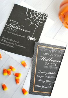 If you're throwing a Halloween party this year, these cute free printable Halloween invitations are a great way to invite your guests. They are fully customizable so you can make them work great for your party. Several versions available. #halloween #partyidea #invite
