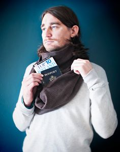 Scarf With Hidden Pocket perfect for travel by SpeakeasySupplyCo