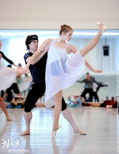 Jennifer Stahl, Soloist    Jennifer (pictured rehearsing Yuri Possokhov's Rite of Spring with Carlos Quenedit) progressed from the SF Ballet School to Company apprentice (2005), corps de ballet member (2006) and then soloist this year! (Image © Erik Tomasson)