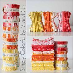 V and Co.: Introducing RED, ORANGE, and YELLOW Simply Colorful fabric By V and Co with Moda