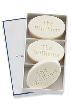 Williams-Sonoma Monogrammed Soap Set http://rstyle.me/n/s6ynsbh9c7