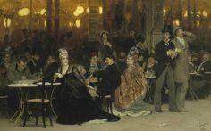 Cultura: #Ilya #Repin   A Parisian Cafe / Un caffè Parigino 1875 (link: http://ift.tt/2cejzUJ )