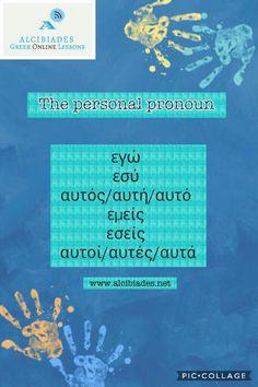 Alcibiades-Greek Online Lessons The personal pronoun