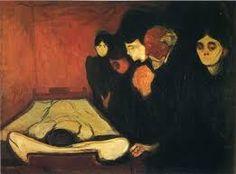 Resultado de imagem para Girl and Death , Edvard Munch,