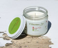 Holiday Soy Candle Christmas Tree Soy Candle by ViVOSpaBoutique, $20.00