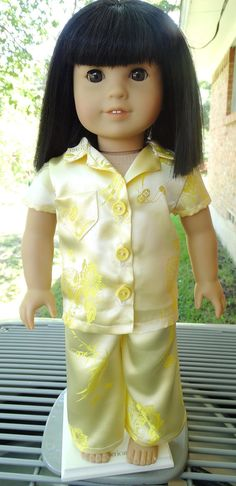 18 Doll Clothes Pretty Pajamas Fits American by Designed4Dolls