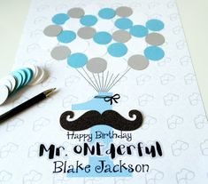 Mr ONEderful First Birthday Party Guest Sign In by SweetieandRoo