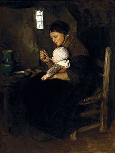 Albert Neuhuys (Dutch, 1844-1914). Dutch Woman and Child, n.d. Charles and Emma Frye Collection, 1952.126