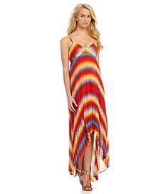 Calvin Klein Tie-Dye Hi-Low Maxi Dress | Dillard's Mobile