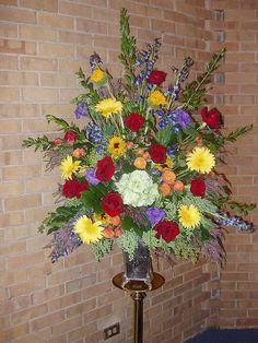 Flower Arrangements For Church Altar | Church Altar | Flickr - Photo Sharing!