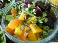 Spinach, beet, & Quinoa Salad