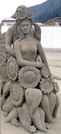 """COUPLE WITH DAISES"" Sand Art 20"
