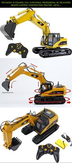 Top Race® 15 Channel Full Functional Professional RC Excavator, Remote Control Construction Tractor ~Metal Shovel~ (TR-211) #shopping #technology #camera #plans #racing #drone #gadgets #fpv #kit #tech #products #parts #huina