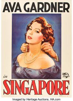 """Movie Posters:Adventure, Singapore (Universal International, 1947). Italian 2 - Folio (39"""" X55"""").. ..."""