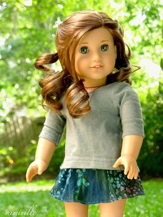 River Hues skirt for American Girl dolls {by mimiville on Etsy}