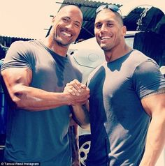 "WWE legend The ""Rock"" Dwayne Johnson and his cousin Tanoai Reed, who works as his stunt double The Rock Dwayne Johnson, Dwayne The Rock, Rock Johnson, Dwayne Johnson Quotes, Movie Trivia, Movie Facts, Javier Bardem, Wtf Fun Facts, True Facts"