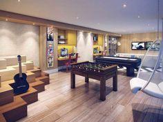 Ideas Games Room Basement Bar For 2019 Dream House Interior, Interior Design Living Room, Home Room Design, House Design, Small Game Rooms, Game Room Basement, Teen Room Decor, Dream House Plans, Home Decor Furniture