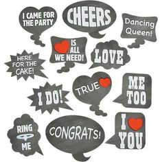 Your special day guests will love to have fun and leave funny messages by using…