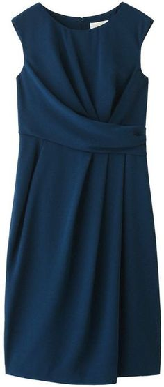 Georgette drape one piece dress