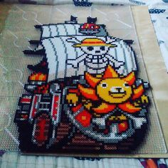 Sunny Go - One Piece perler beads by  mattyperler