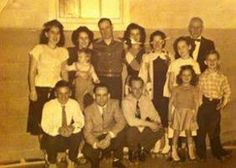 Bowen's Roller Skating Rink, circa 1947; grand opening. Front row: cousin Don; uncle Junie (Sye Jr); dad, Al J; me - Shari J: bro - Billy; Back row: Aunt Mary; Aunt Dorothy holding cousin Joanne; Uncle Al; mom - Barbara J; Grandma Inez Bowen; cousin Patsy; Grandpa Sye (Silas) Bowen. Grandpa's dressed in Tux for grand opening ceremony. Back Row, Front Row, Roller Skating Rink, Slice Of Life, Before Us, Opening Ceremony, Grand Opening, Aunt, Bro