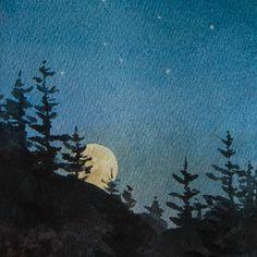Costellazioni stampa acquerello cielo notturno Baby