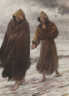 St Francis sets forth to Friar Leo where perfect joy is to be found Feast Of St Francis, Francis Of Assisi, Catholic Art, Catholic Saints, Catholic Priest, Religious Photos, Religious Art, Lives Of The Saints, St Clare's