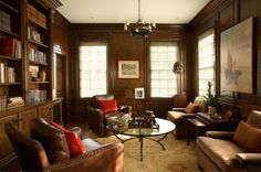 Library  Family Room  Library  Transitional by McLaurin Interiors