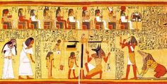 Thoth's declaration to the Ennead. From Papyrus of Ani found in tomb of Ani in 1250 BC (British Museum, London, UK)