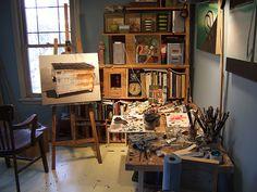 Studio, indretning af studio, hjemmestudio, inspiration, feng shui http://mindfulstyling.dk/indretning-der-oger-effektiviteten-pa-arbejdspladsen/
