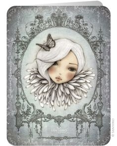 Mirabelle Official Online Shop from Santoro London. Mirabelle collection is a portfolio of beautiful, enchanting art; Decoupage Vintage, Decoupage Paper, Santoro London, Swing Card, Whimsical Art, Print Pictures, Face Art, Altered Art, Fantasy Art