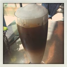 Iced latte at the Crosby Street Hotel.