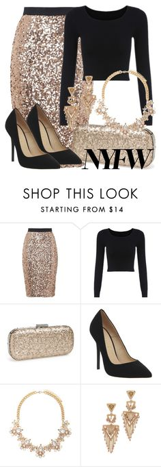 """NYFW"" by deedee-pekarik ❤ liked on Polyvore featuring French Connection, Jessica McClintock, Office, Forever 21, Miguel Ases, women's clothing, women, female, woman and misses"