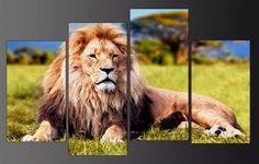 leon felinos en bastidor tela canvas de 100x65 cm envios