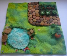 A  little while back a garden took shape. A most satisfying garden that has flourished and produced vegetables to be harvested. This was a garden made from fibre, stitched and felted. It was create…