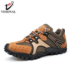 9e6ba6e7f629 VESONAL Hot Sale Breathable Light Spring Summer Casual Sneakers Male Mesh  Shoes For Men Cow Suede Leather Adult Walking Footwear