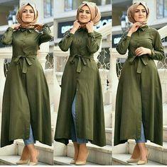 Spring casual outfits for hijabi women Tesettür Tunik Modelleri 2020 Muslim Women Fashion, Modern Hijab Fashion, Islamic Fashion, Abaya Fashion, Modest Fashion, Fashion Outfits, Hijab Style Dress, Casual Hijab Outfit, Hijab Chic