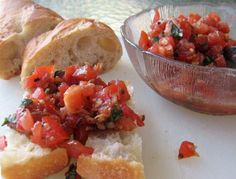 Best Ever Bruschetta from Food.com Having family over for dinner tonight and just made this AMAZING bruschetta recipe. I highly recommend it! Yummy...