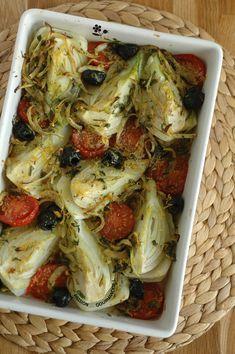Fenouil & tomate rôtis au four