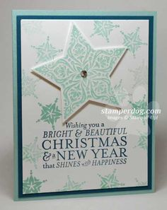 Quick & Easy Christmas Card - Stampin Up! Demonstrator Ann M. Clemmer & Stamper Dog Card Ideas