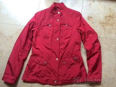 297aa5f3bd Tmavě červená jarní podzimní bunda GEOX vel 36 38 M NOVÁ