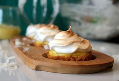 Pineapple Curd Tartlets with Toasted Coconut Meringue   Safest Choice Eggs