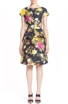 ETRO Floral Print Peplum Dress. #etro #cloth #