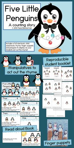 Counting, reading and writing numbers come together in Five Little Penguins, a counting story.  See how this activity will engage your students! TpT$