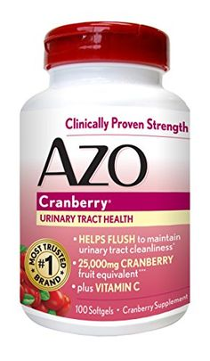 Product review for AZO Cranberry Urinary Tract Health, 25,000mg equivalent of cranberry fruit, Softgels 100 count -  AZO Cranberry Softgels Take AZO Cranberry softgels as part of your daily routine to maintain a healthy urinary tract!  Tired of drinking cranberry juice? Get the urinary tract benefits of one glass of cranberry juice in just 1 serving of AZO Cranberry softgels.†† These convenient, easy to... -  http://www.bestselleroutlet.net/product-review-for-azo-cranbe
