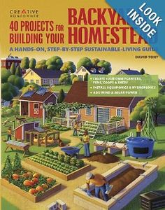 40 Projects for Building Your Backyard Homestead: A Hands-on, Step-by-Step Sustainable-Living Guide (Gardening) by David Toht {homestead book}