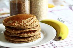 Tropical Banana Pancakes with Coconut Syrup
